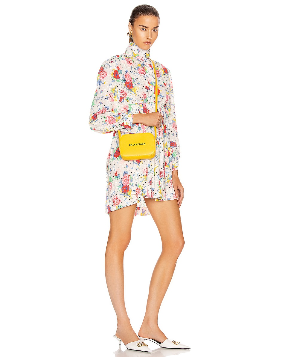 Image 2 of Balenciaga XS Logo Everyday Camera Bag in Yellow & Black