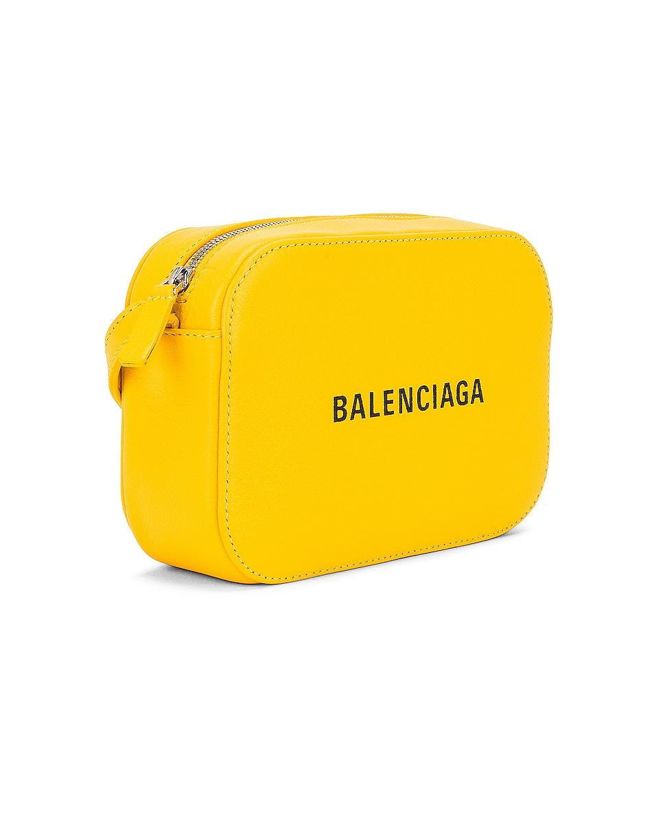 Image 4 of Balenciaga XS Logo Everyday Camera Bag in Yellow & Black