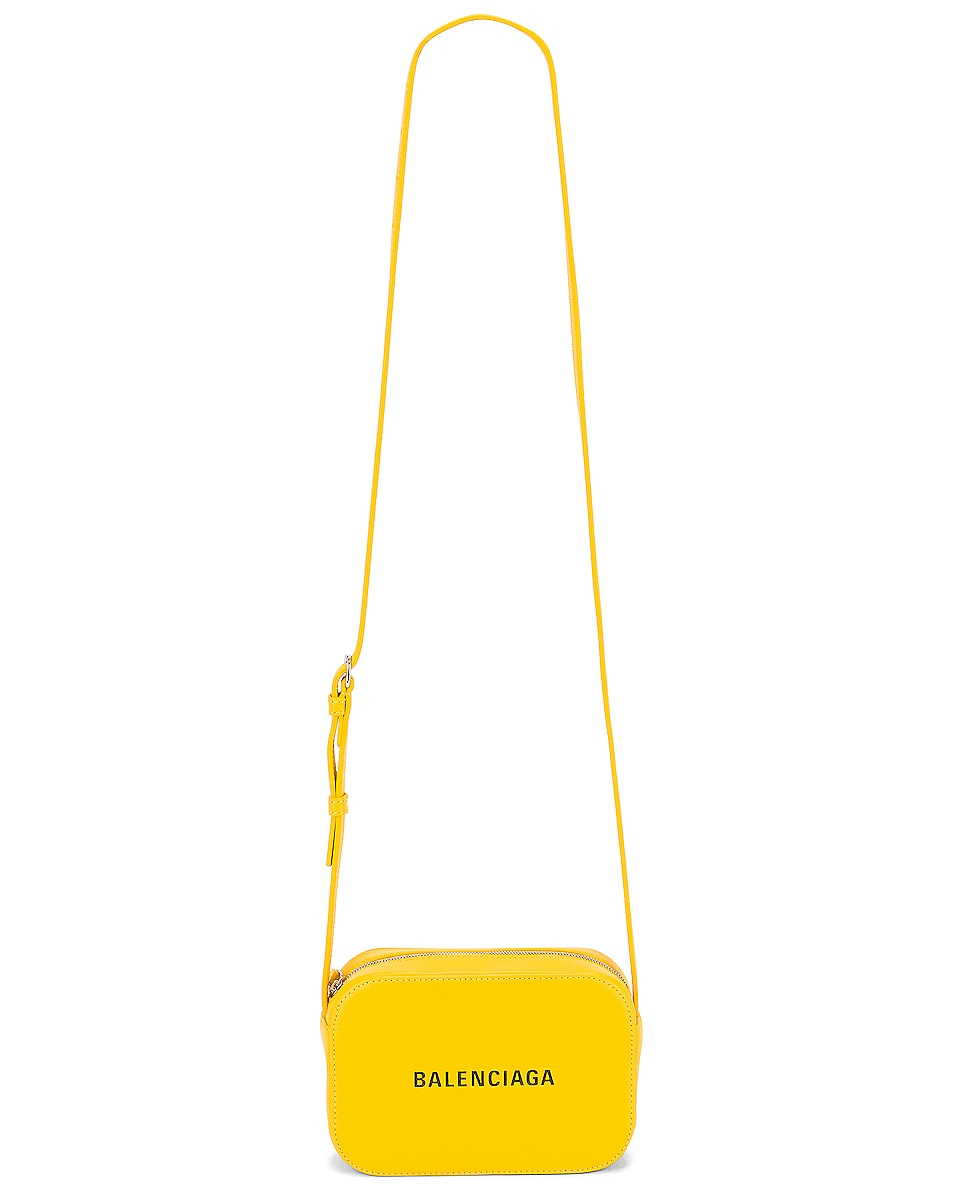 Image 6 of Balenciaga XS Logo Everyday Camera Bag in Yellow & Black