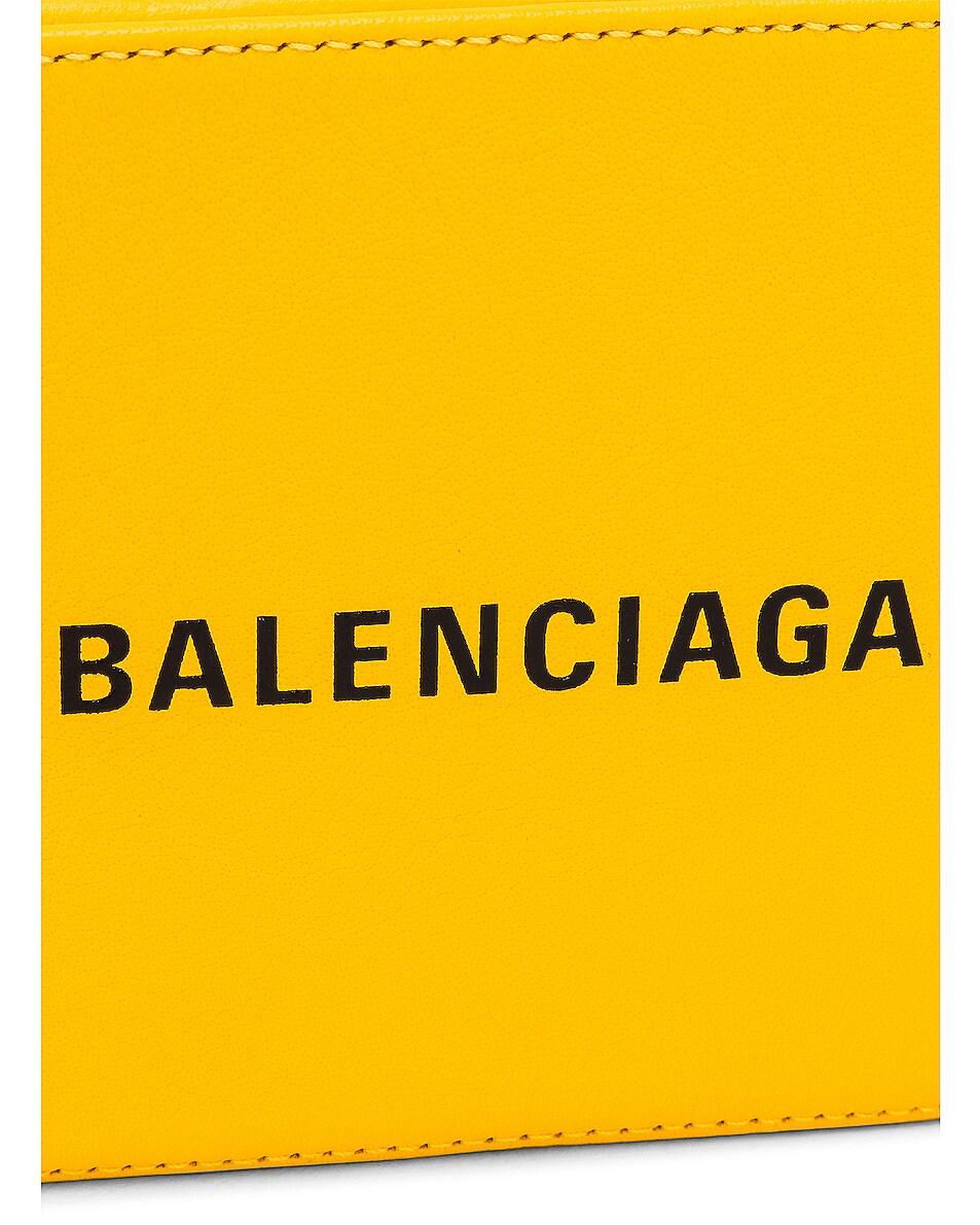 Image 8 of Balenciaga XS Logo Everyday Camera Bag in Yellow & Black