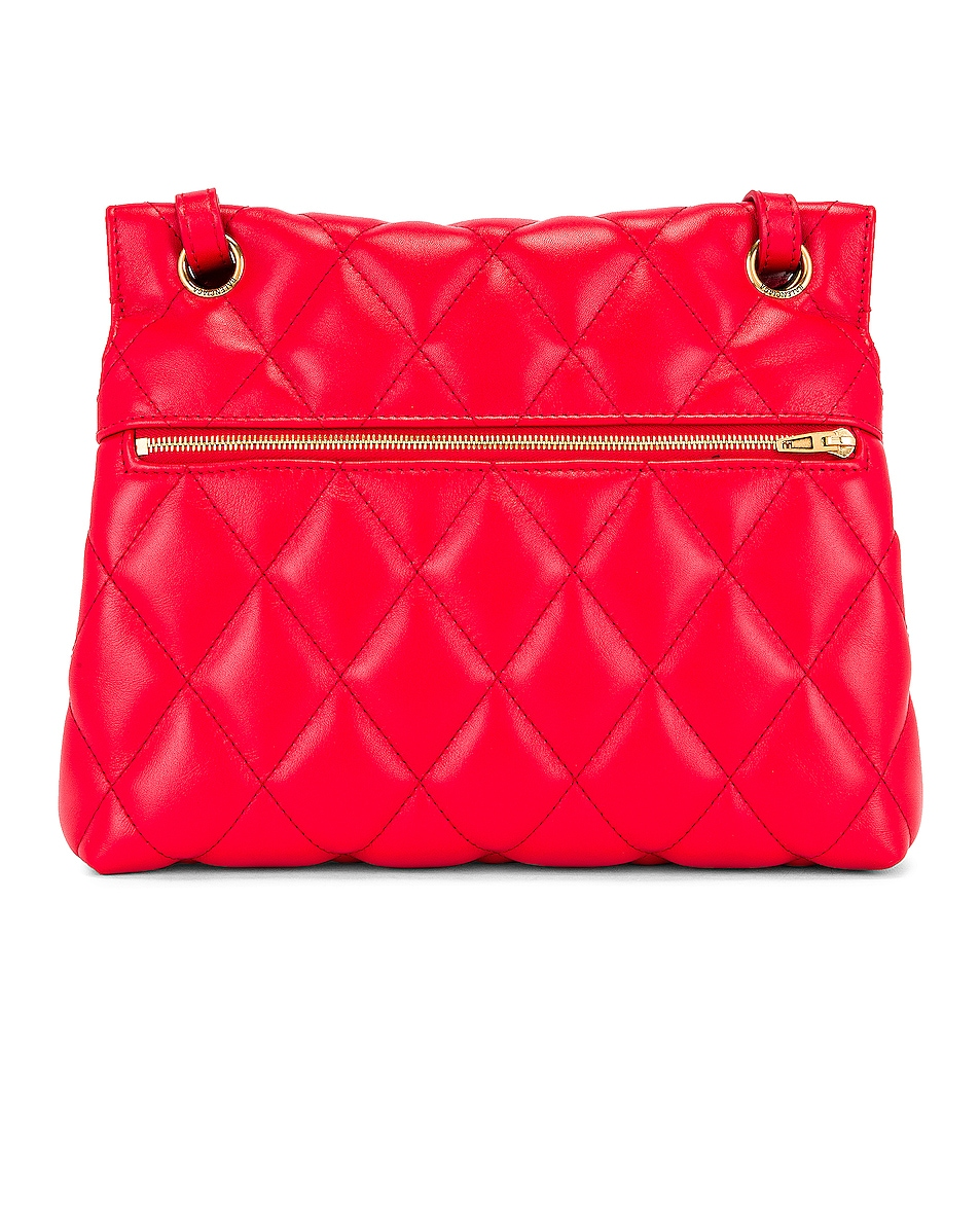 Image 3 of Balenciaga Medium Quilted Leather B Shoulder Bag in Bright Red