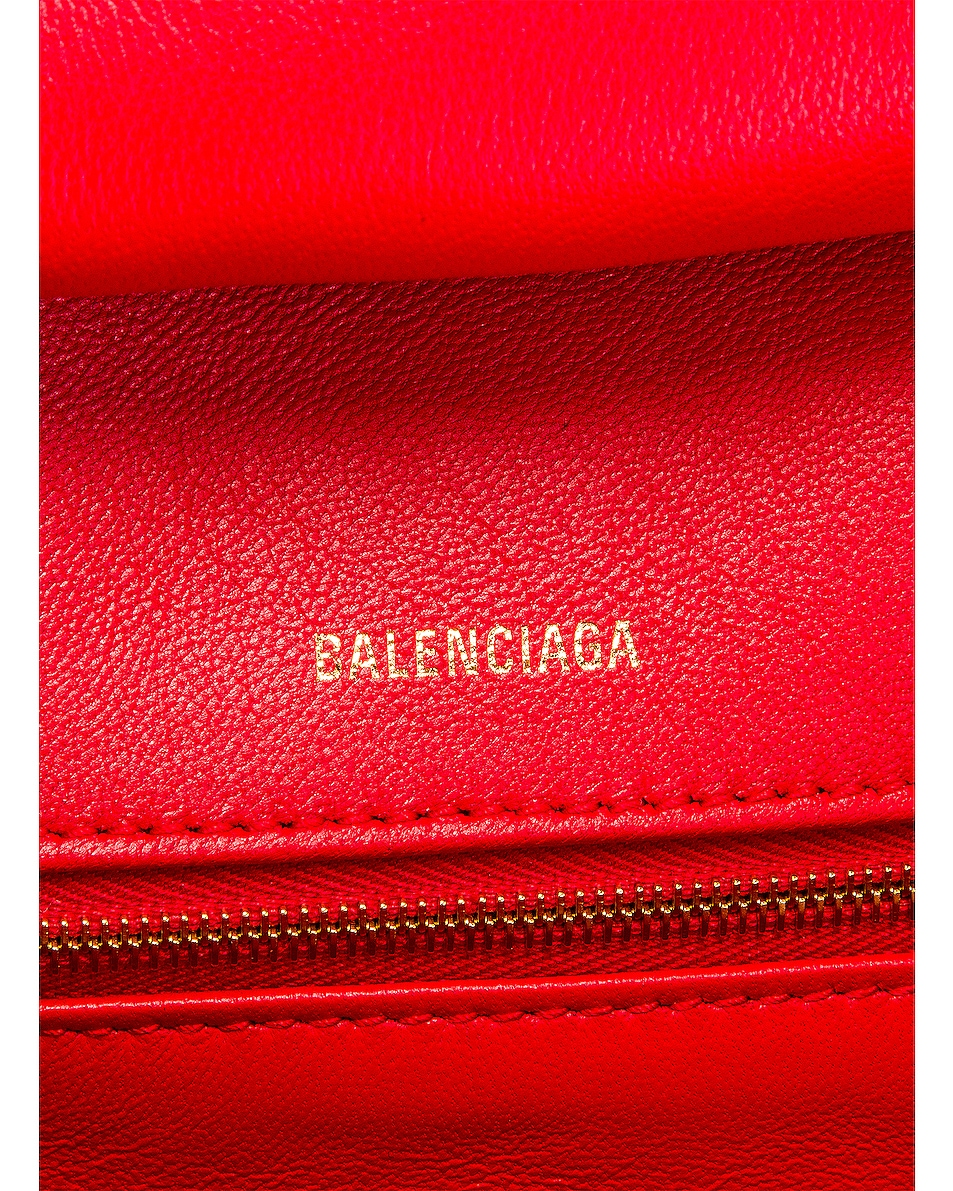 Image 7 of Balenciaga Medium Quilted Leather B Shoulder Bag in Bright Red
