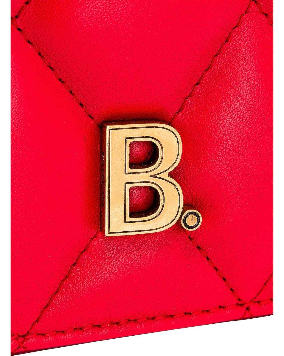 Image 8 of Balenciaga Medium Quilted Leather B Shoulder Bag in Bright Red