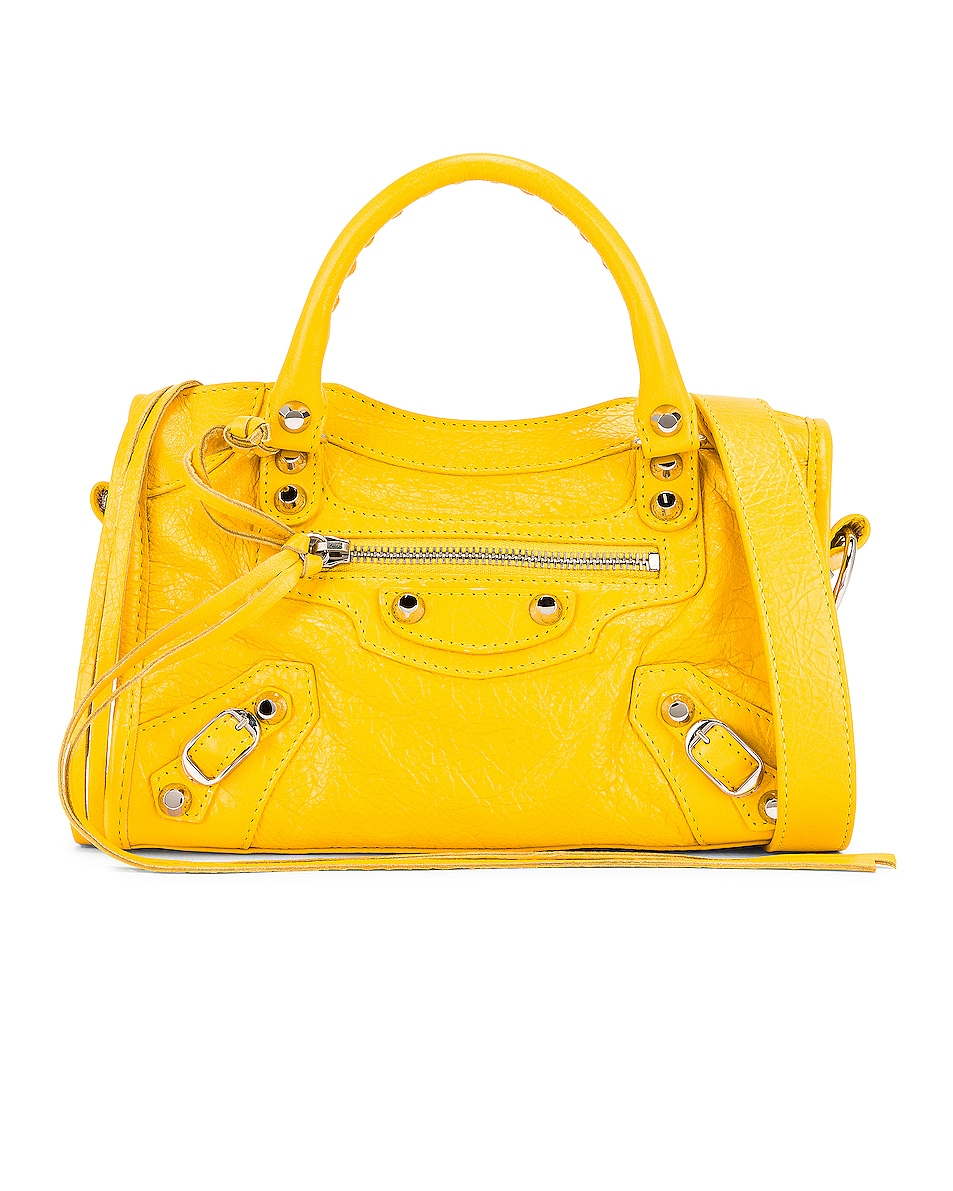 Image 1 of Balenciaga Mini Classic City Bag in Yellow