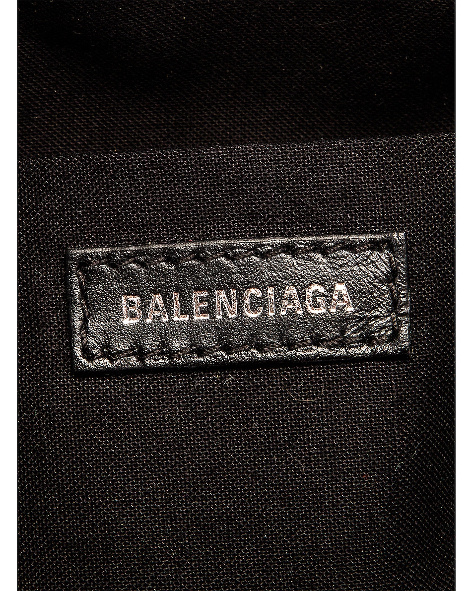 Image 7 of Balenciaga Small Quilted Leather B Bucket Bag in Black