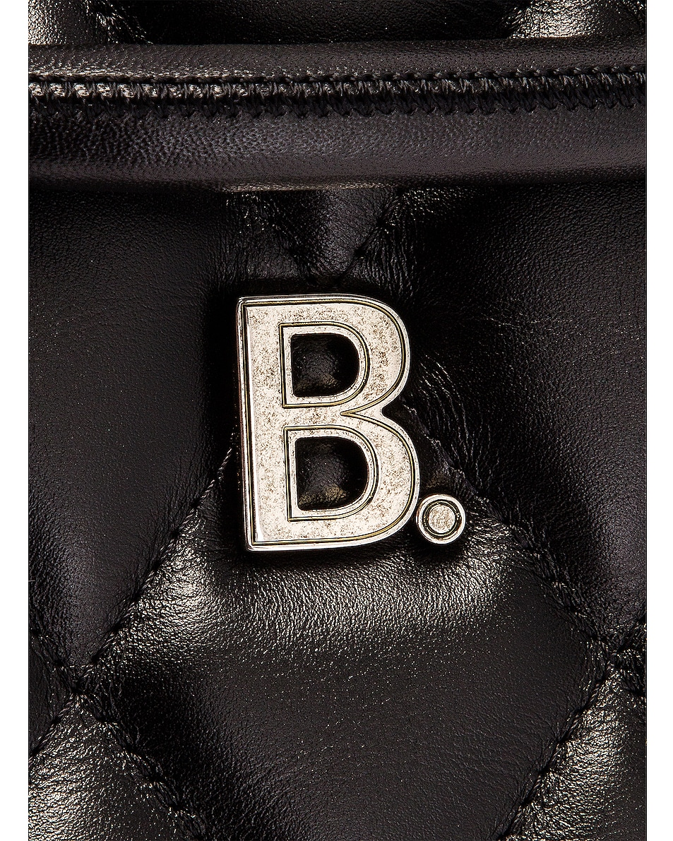 Image 8 of Balenciaga Small Quilted Leather B Bucket Bag in Black