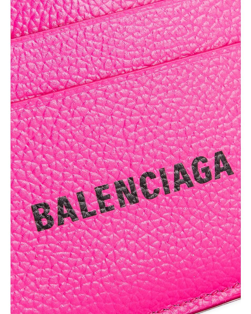 Image 5 of Balenciaga Cash Card Holder in Acid Fuchsia & Black
