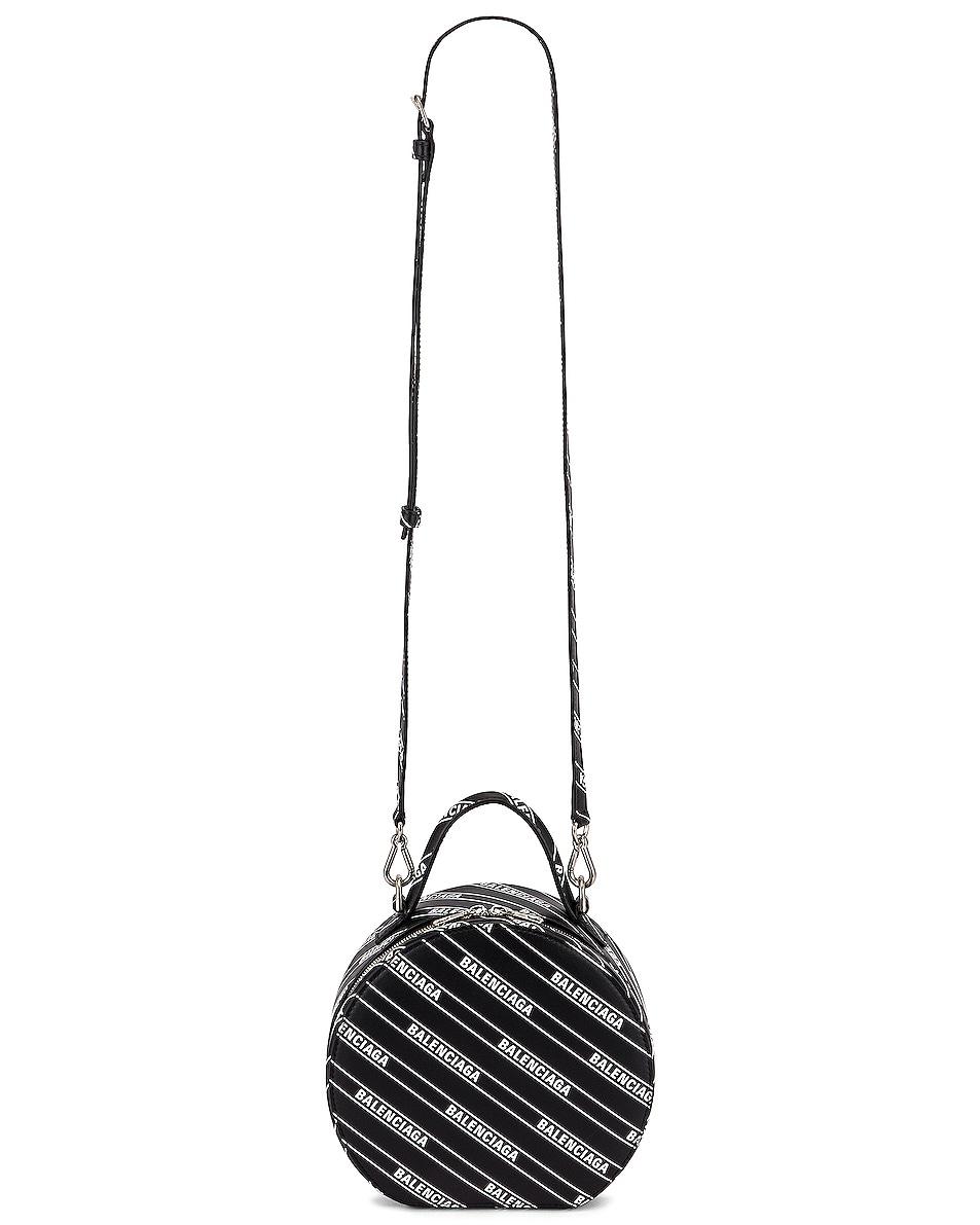 Image 6 of Balenciaga XS Logo Vanity Round Bag in Black & White