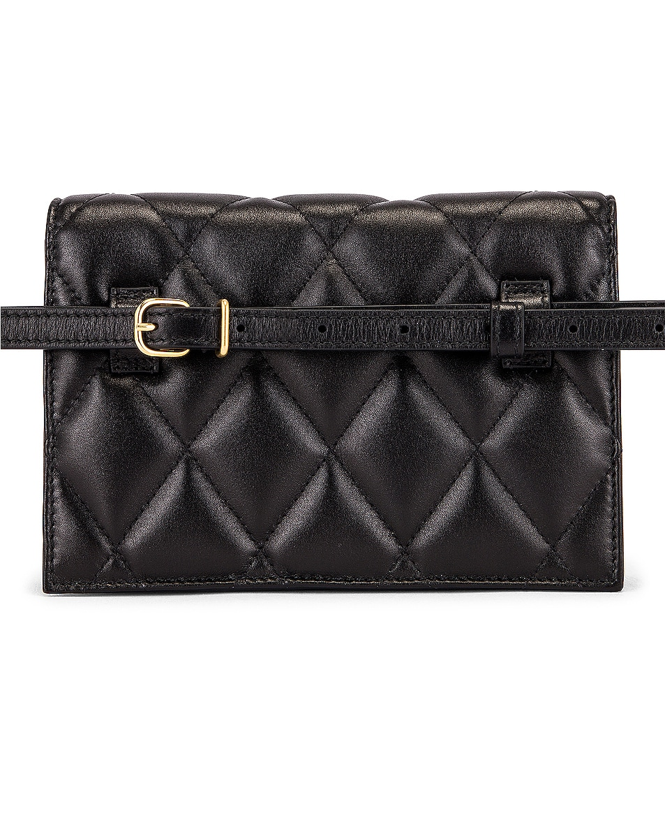 Image 3 of Balenciaga XS Quilted Leather Sharp Belt Bag in Black