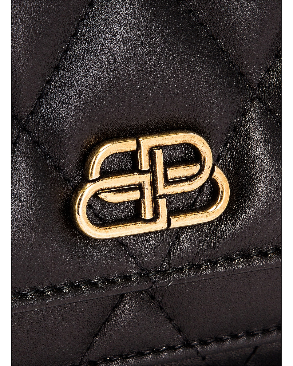 Image 7 of Balenciaga XS Quilted Leather Sharp Belt Bag in Black