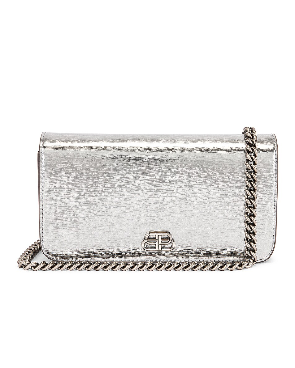 Image 1 of Balenciaga BB Phone Holder Chain Bag in Silver