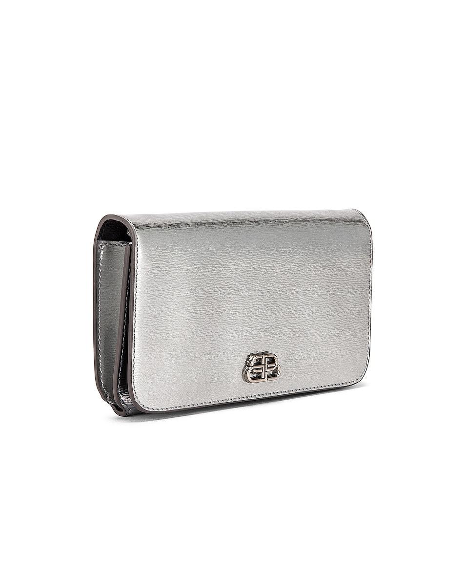 Image 4 of Balenciaga BB Phone Holder Chain Bag in Silver