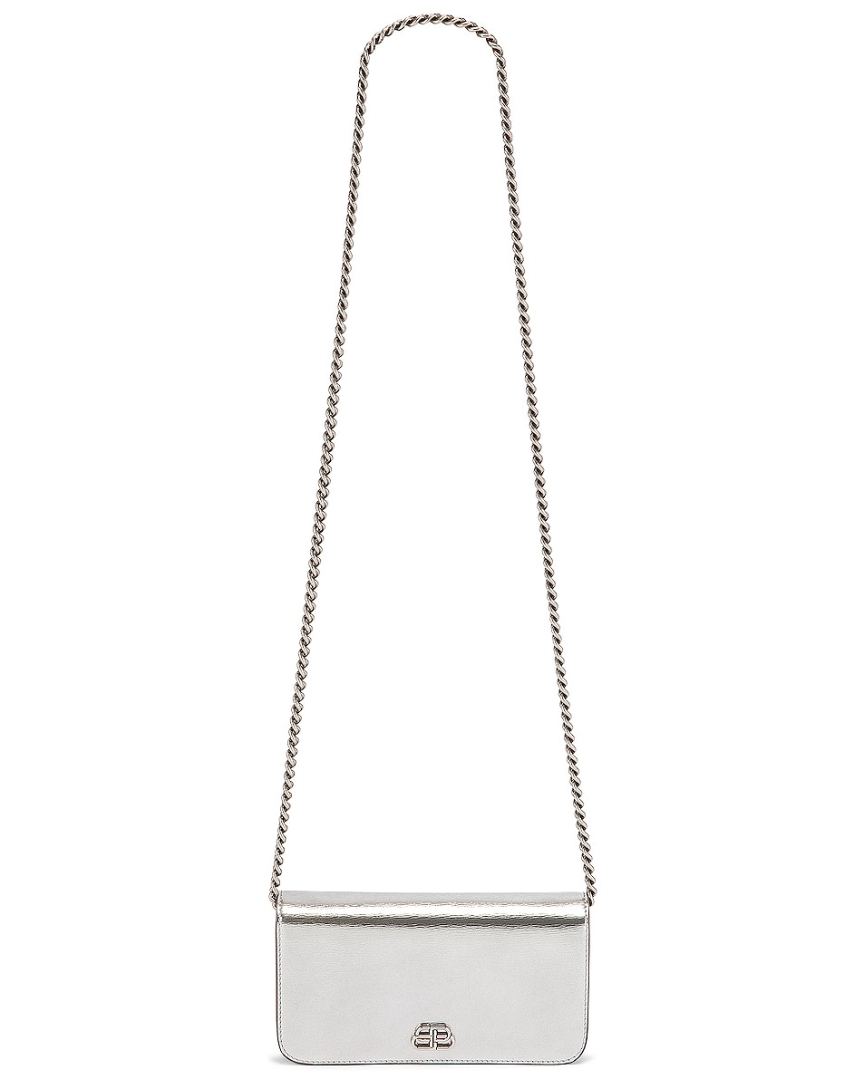Image 6 of Balenciaga BB Phone Holder Chain Bag in Silver