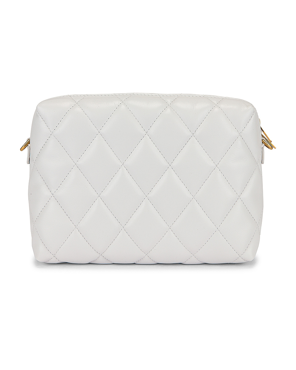 Image 3 of Balenciaga B Quilted Leather Camera Bag in White