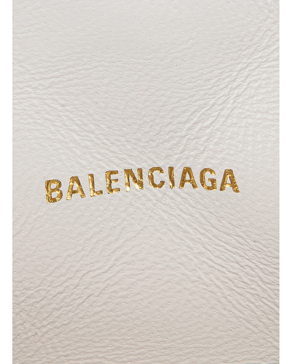 Image 7 of Balenciaga B Quilted Leather Camera Bag in White