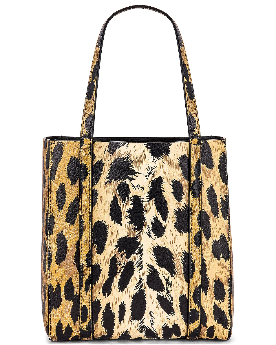 Image 3 of Balenciaga XXS Leopard Everyday Tote in Brown & White