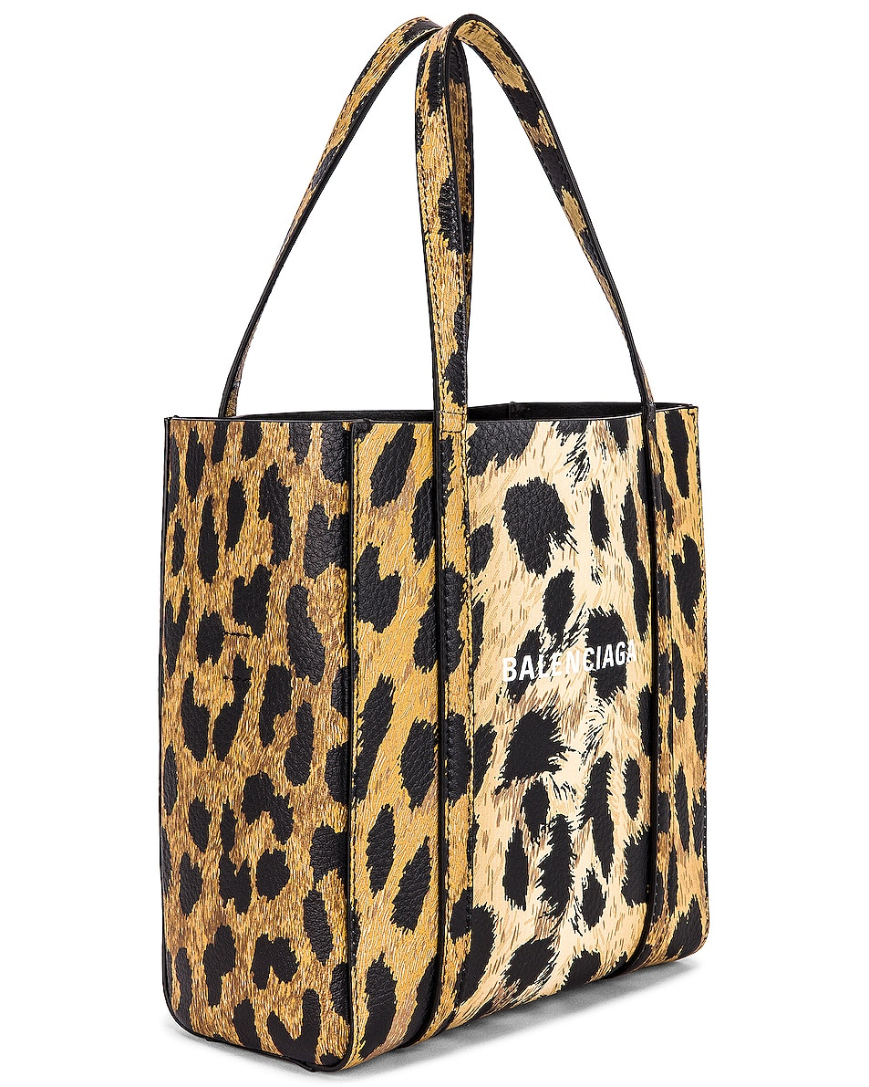 Image 4 of Balenciaga XXS Leopard Everyday Tote in Brown & White