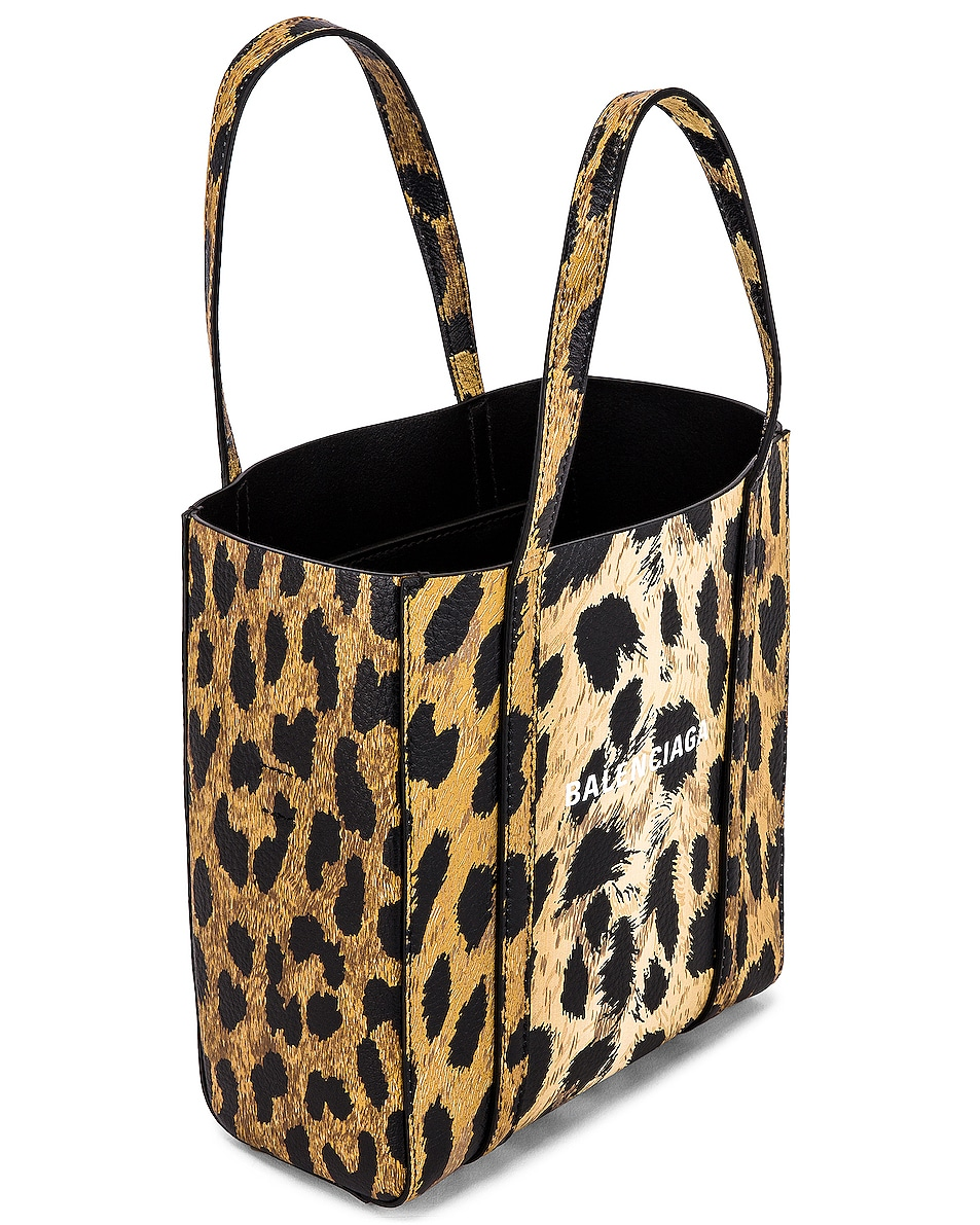 Image 5 of Balenciaga XXS Leopard Everyday Tote in Brown & White