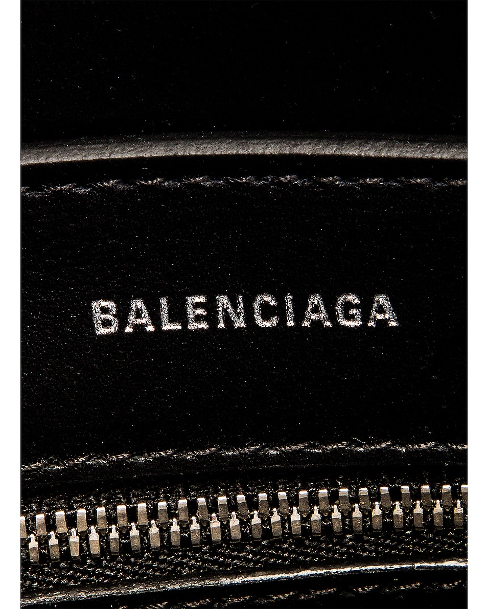 Image 7 of Balenciaga XXS Leopard Everyday Tote in Brown & White