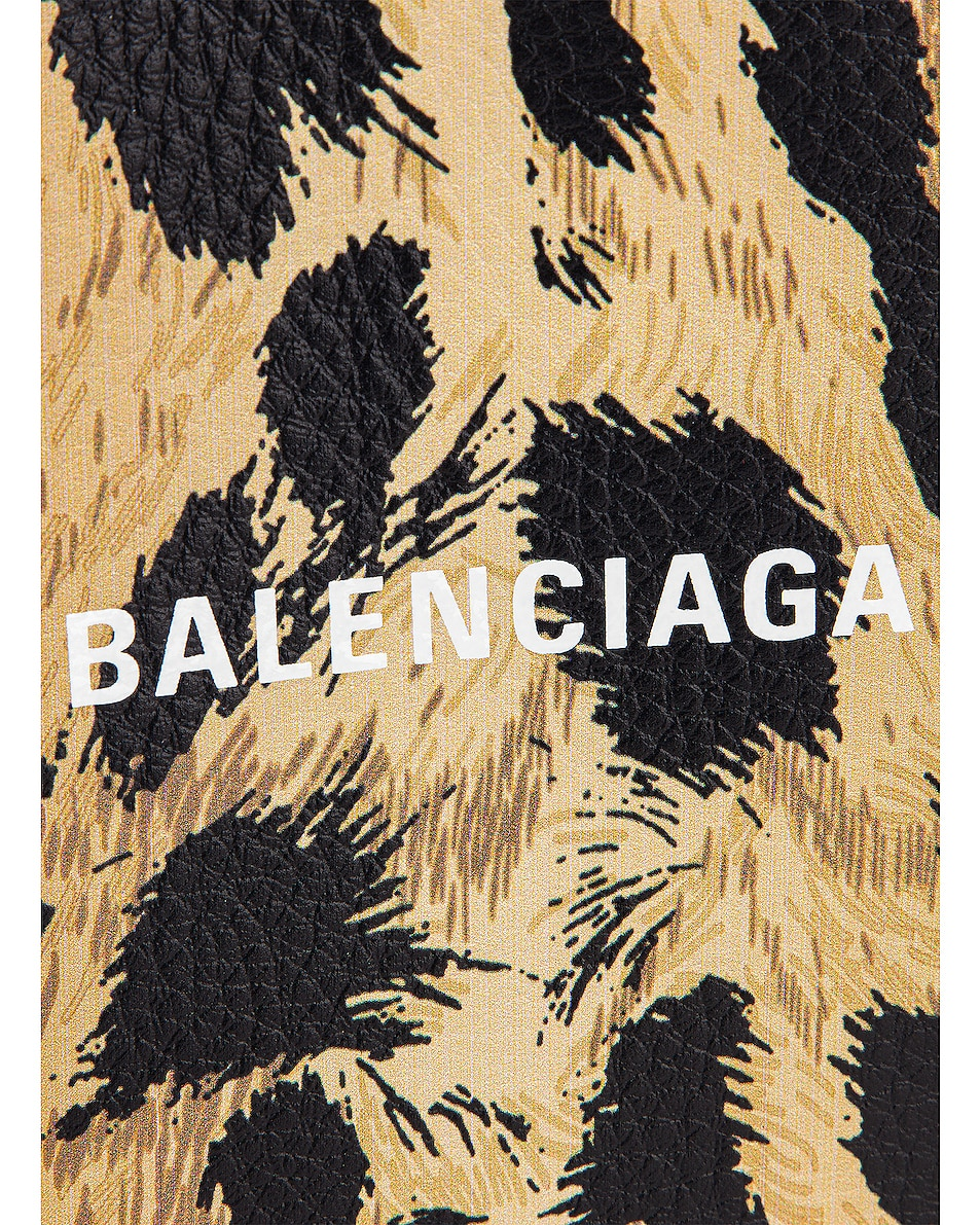 Image 8 of Balenciaga XXS Leopard Everyday Tote in Brown & White