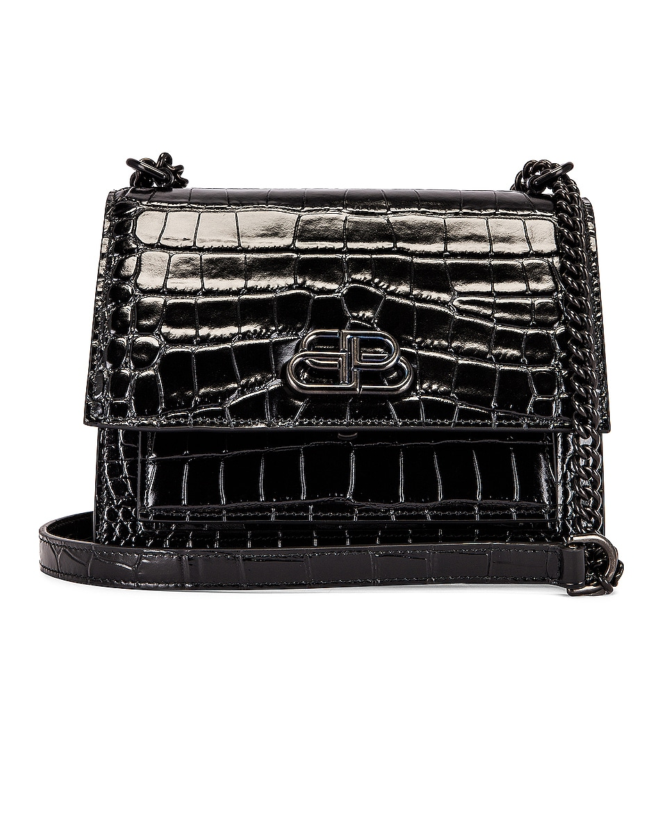 Balenciaga Shoulder-bags Small Embossed Croc Sharp Chain Bag