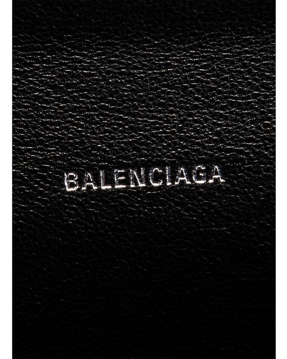 Image 7 of Balenciaga Small Embossed Croc Sharp Chain Bag in Black