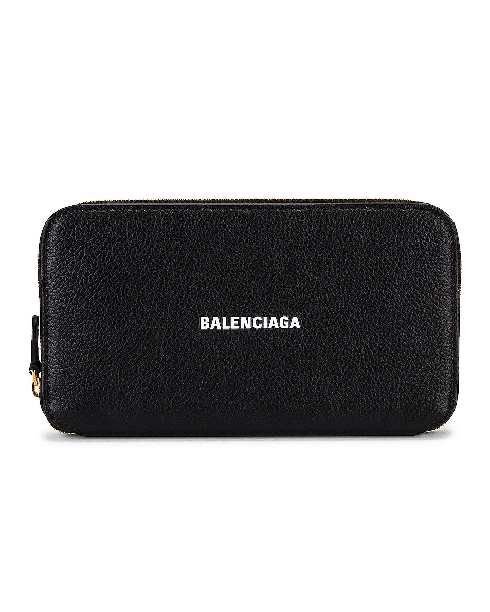 Image 1 of Balenciaga Cash Continental Wallet in Black & White