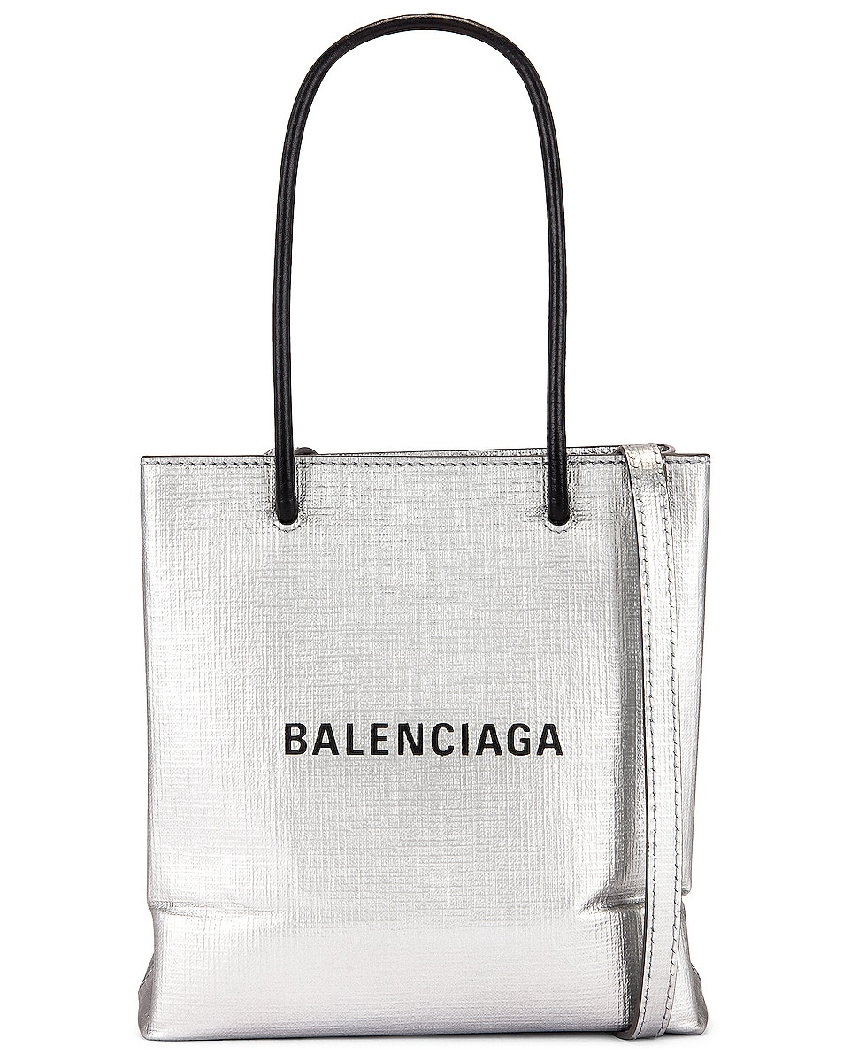 Image 1 of Balenciaga XXS Shopping Tote in Mat Silver