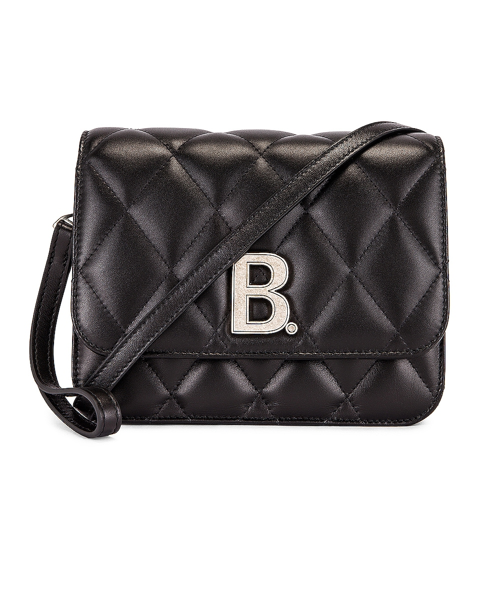 Image 1 of Balenciaga Small Quilted Leather B Bag in Black