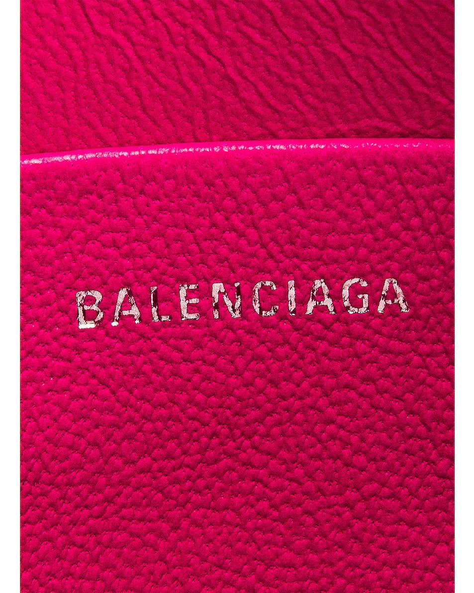 Image 6 of Balenciaga Medium Cash Handle Pouch in Acid Fuchsia & Black