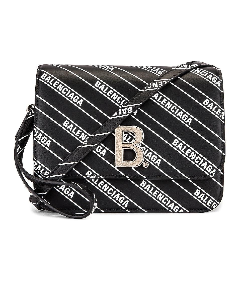 Image 1 of Balenciaga Small Diagonal Logo B Bag in Black & White