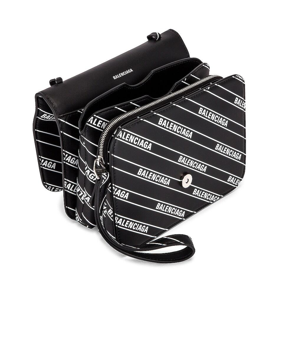 Image 5 of Balenciaga Small Diagonal Logo B Bag in Black & White