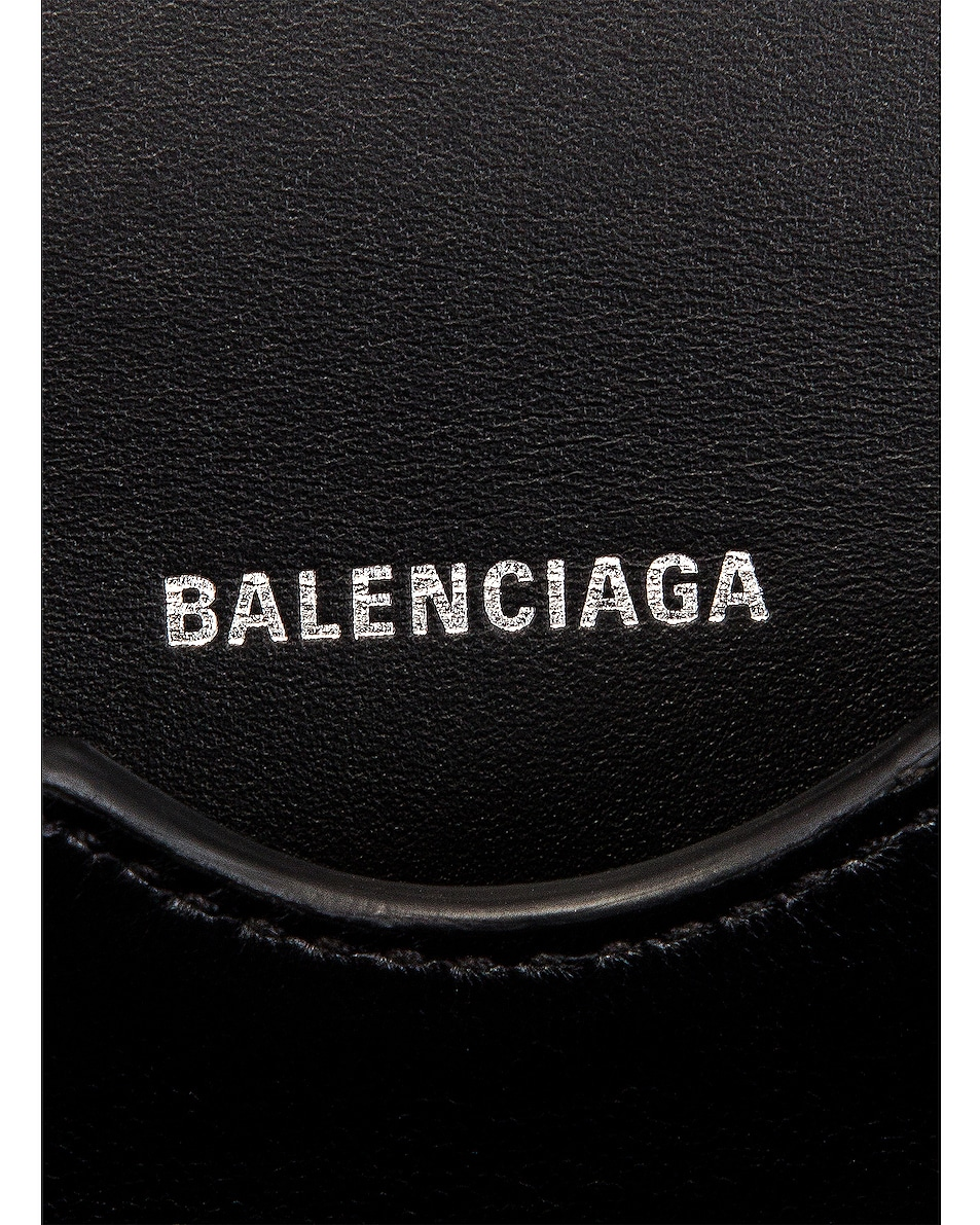 Image 7 of Balenciaga Small Diagonal Logo B Bag in Black & White