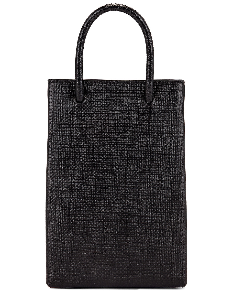 Image 3 of Balenciaga Shop Phone Holder Bag in Black