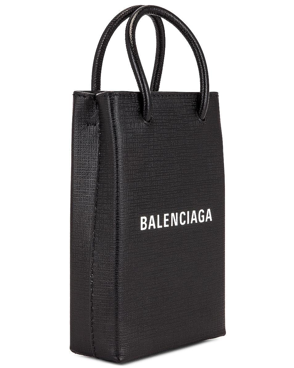 Image 4 of Balenciaga Shop Phone Holder Bag in Black