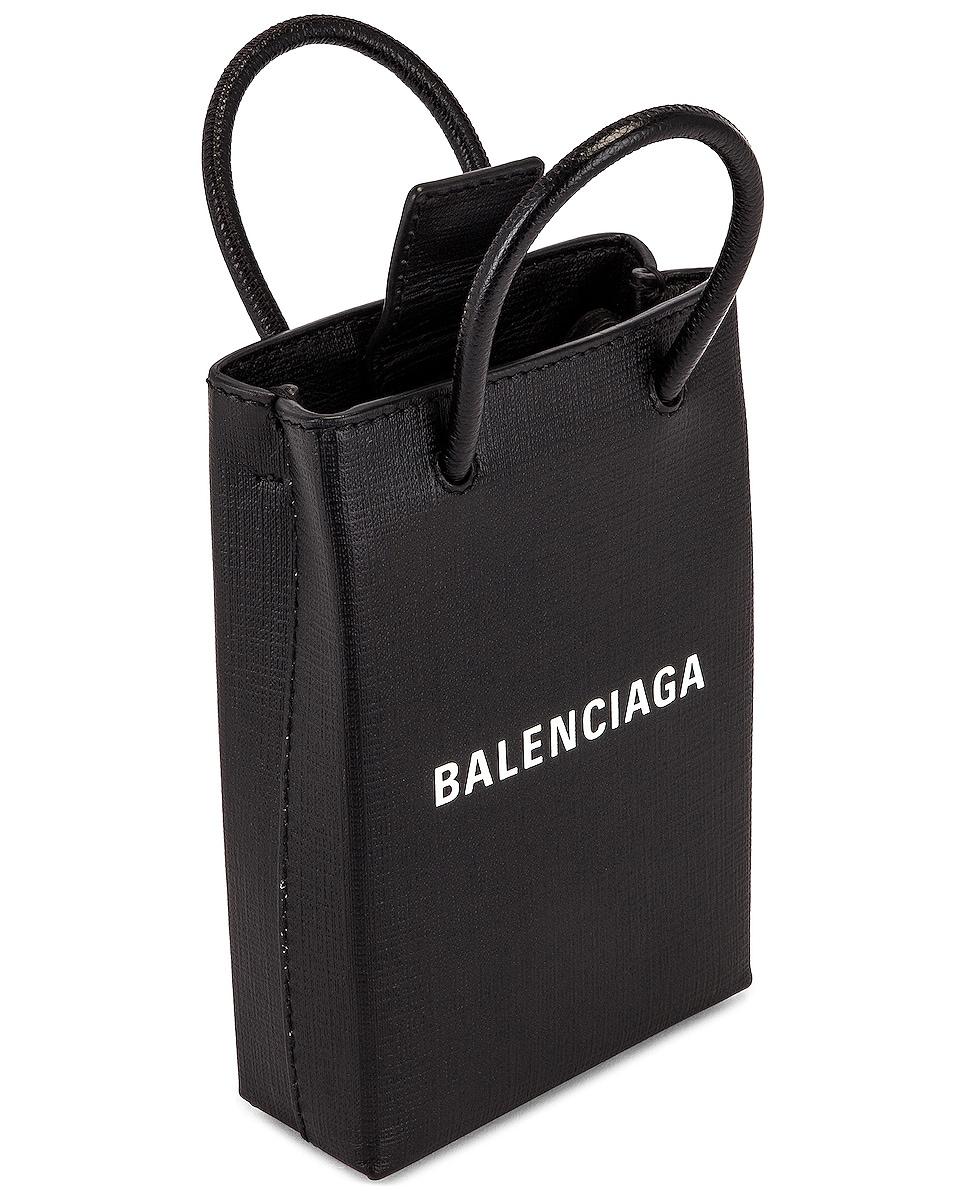 Image 5 of Balenciaga Shop Phone Holder Bag in Black