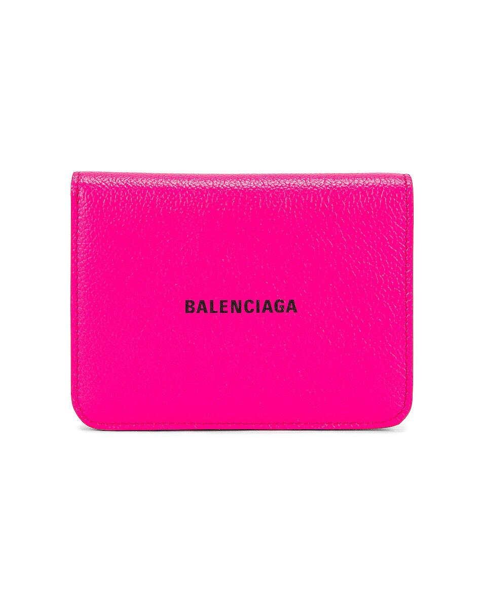Image 1 of Balenciaga Medium Cash Wallet in Acid Fuchsia & Black