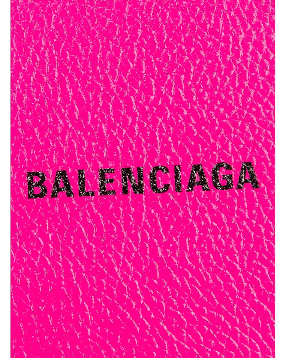 Image 6 of Balenciaga Medium Cash Wallet in Acid Fuchsia & Black