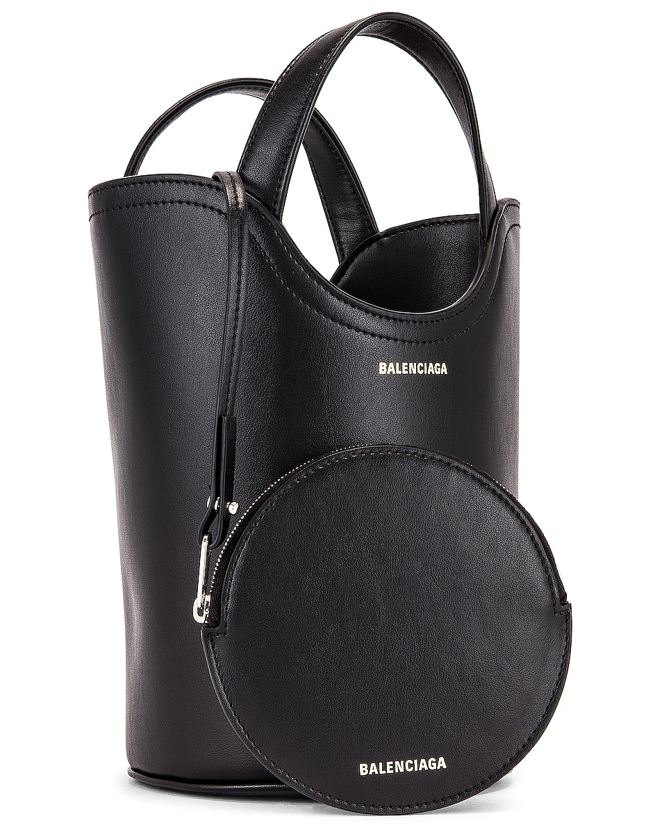 Image 4 of Balenciaga XS Wave Tote in Black