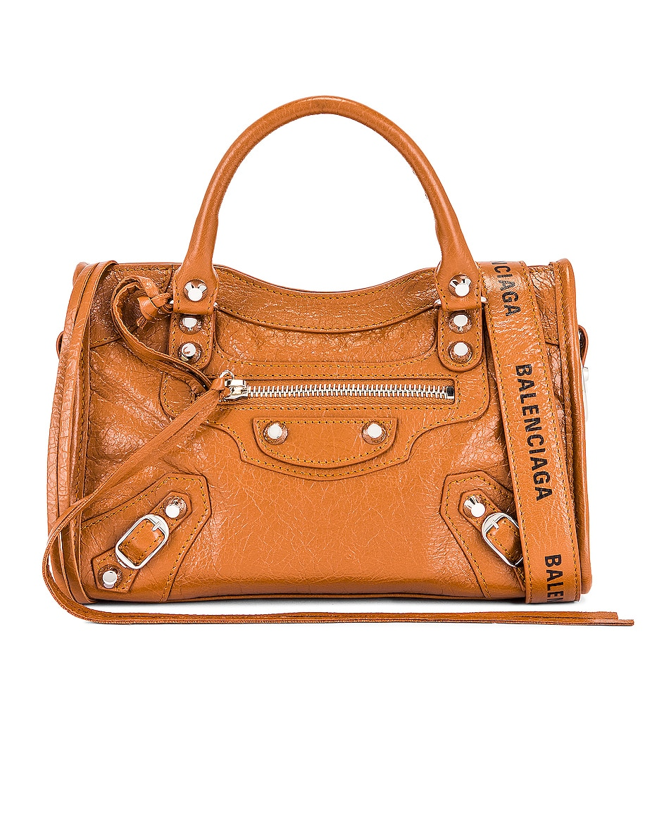 Image 1 of Balenciaga Mini Classic City Bag in Camel & Black