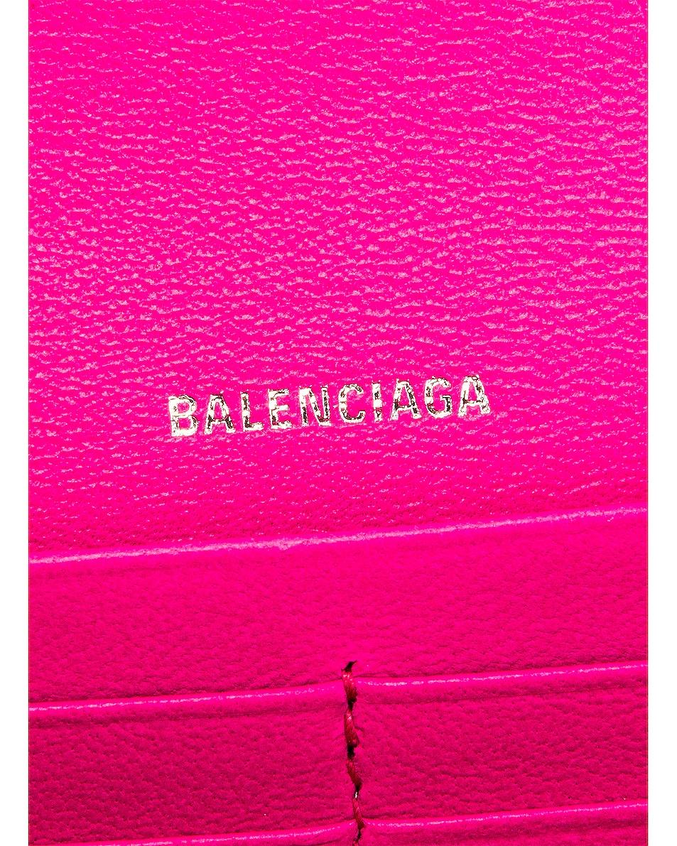 Image 7 of Balenciaga Cash Continental Chain Bag in Acid Fuchsia & Black