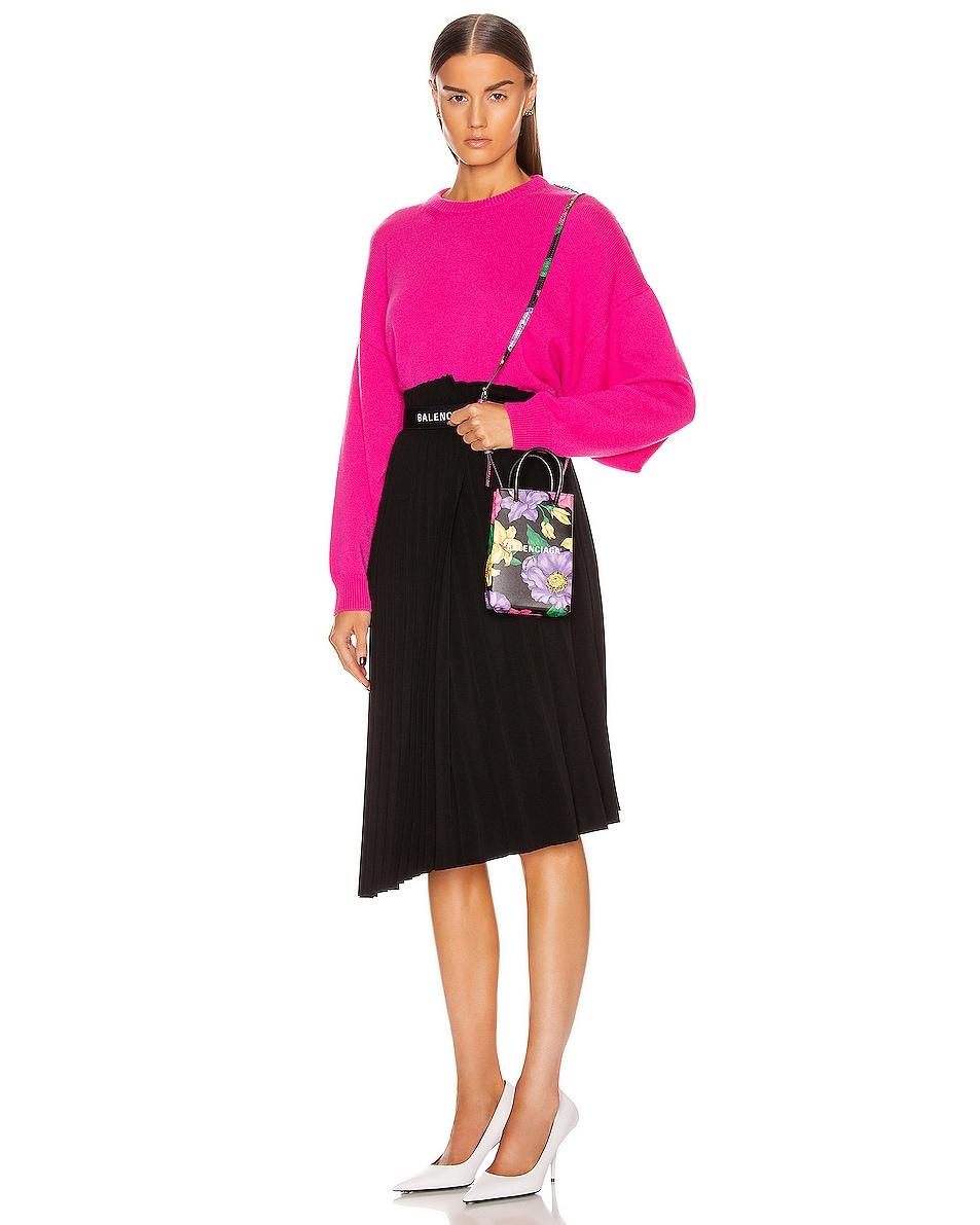 Image 2 of Balenciaga Floral Shop Phone Holder Bag in Multicolor