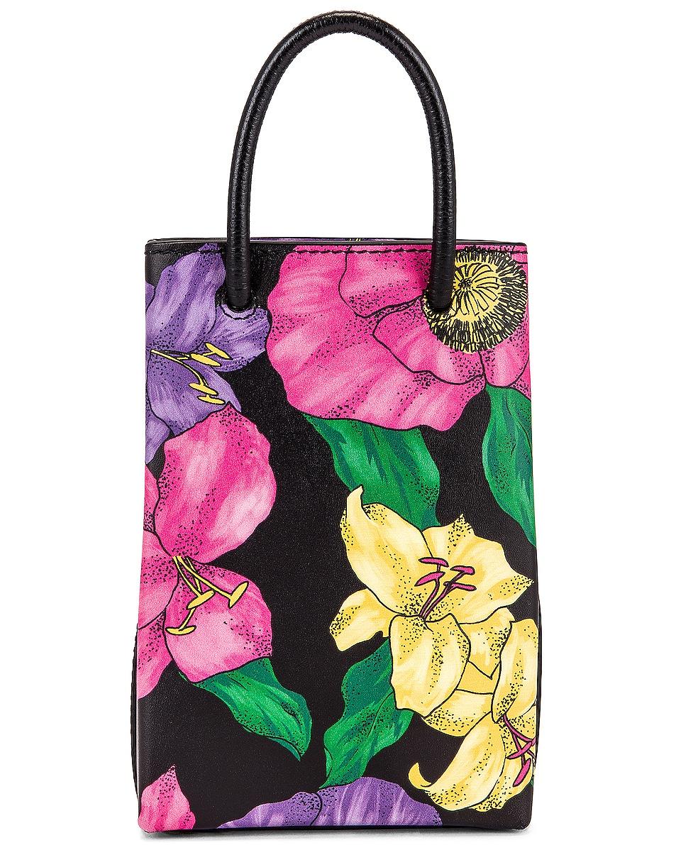 Image 3 of Balenciaga Floral Shop Phone Holder Bag in Multicolor