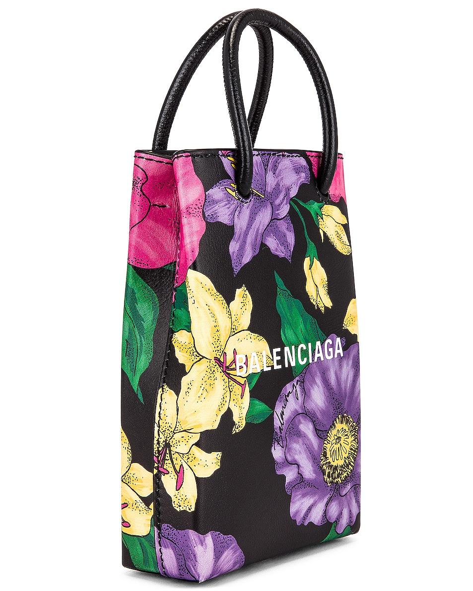 Image 4 of Balenciaga Floral Shop Phone Holder Bag in Multicolor