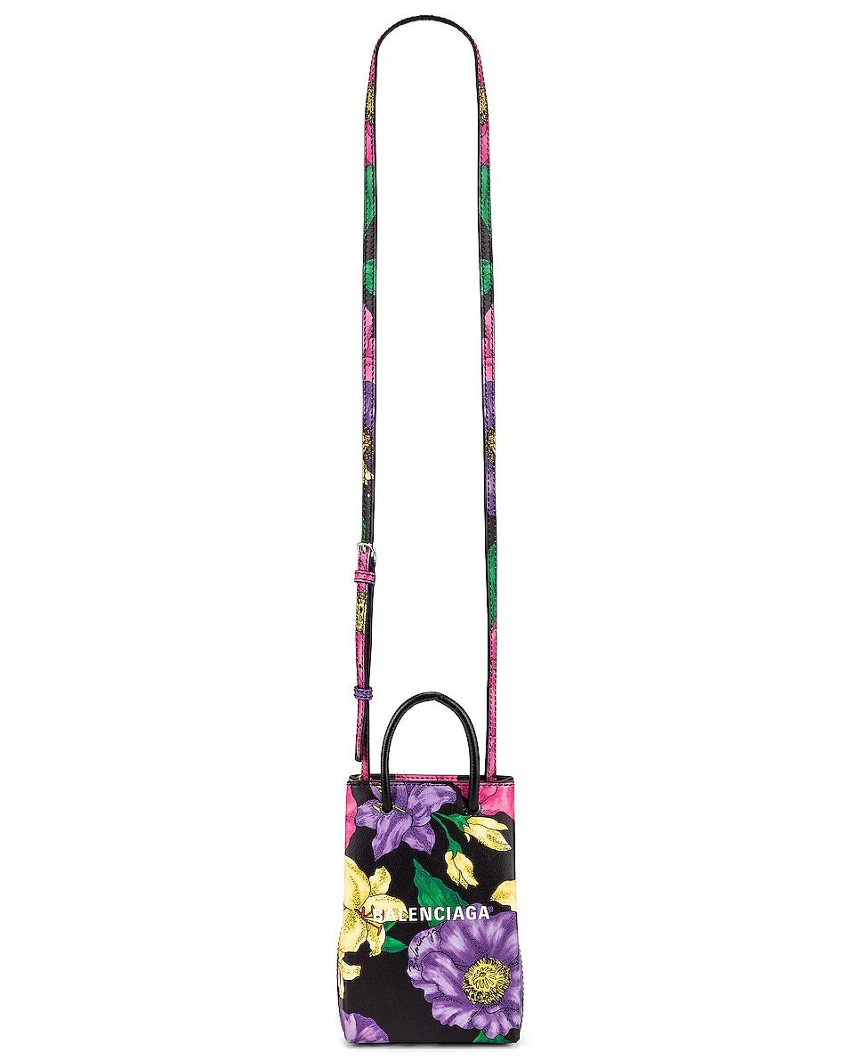 Image 6 of Balenciaga Floral Shop Phone Holder Bag in Multicolor