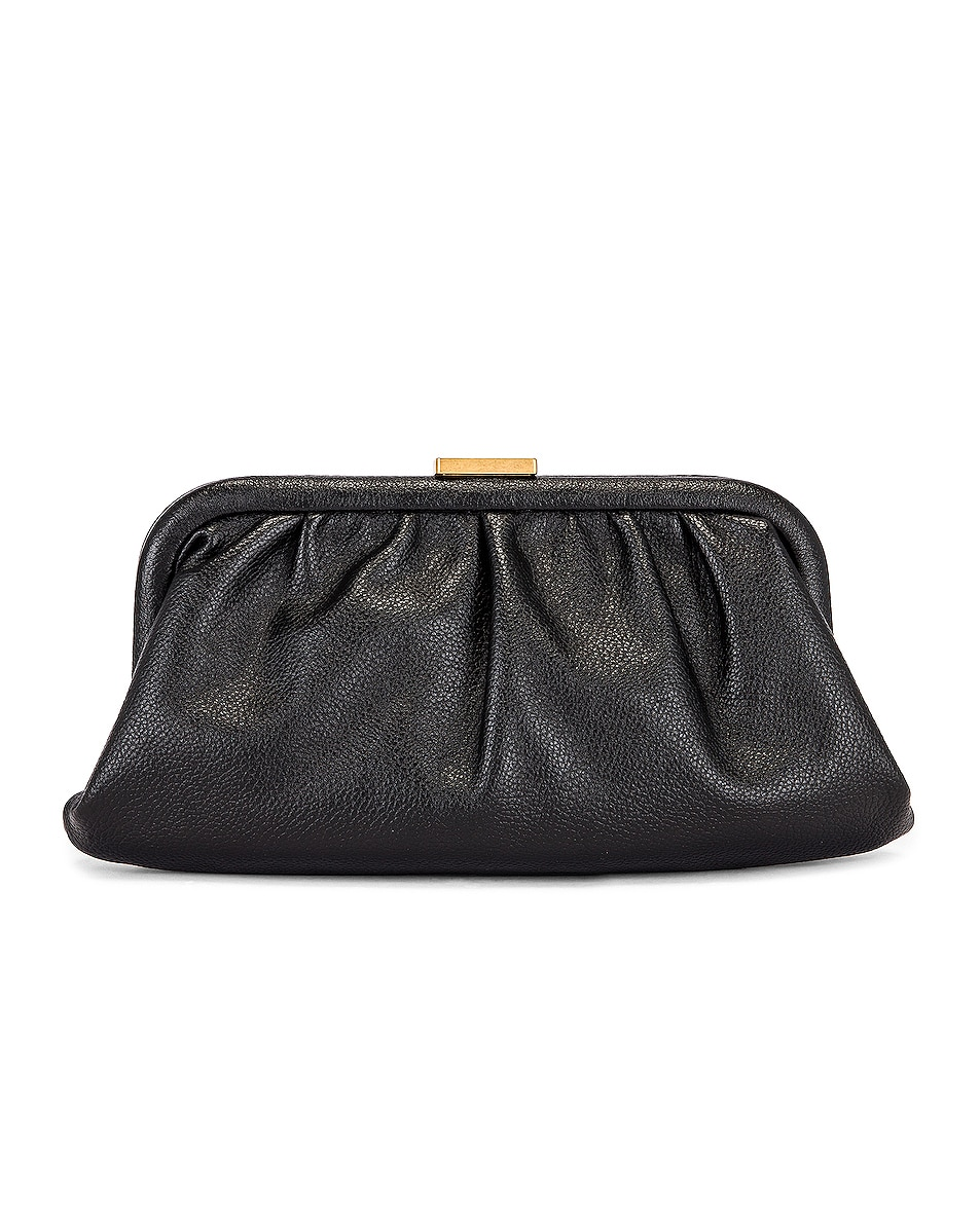 Image 3 of Balenciaga XS Cloud Clutch with Strap in Black