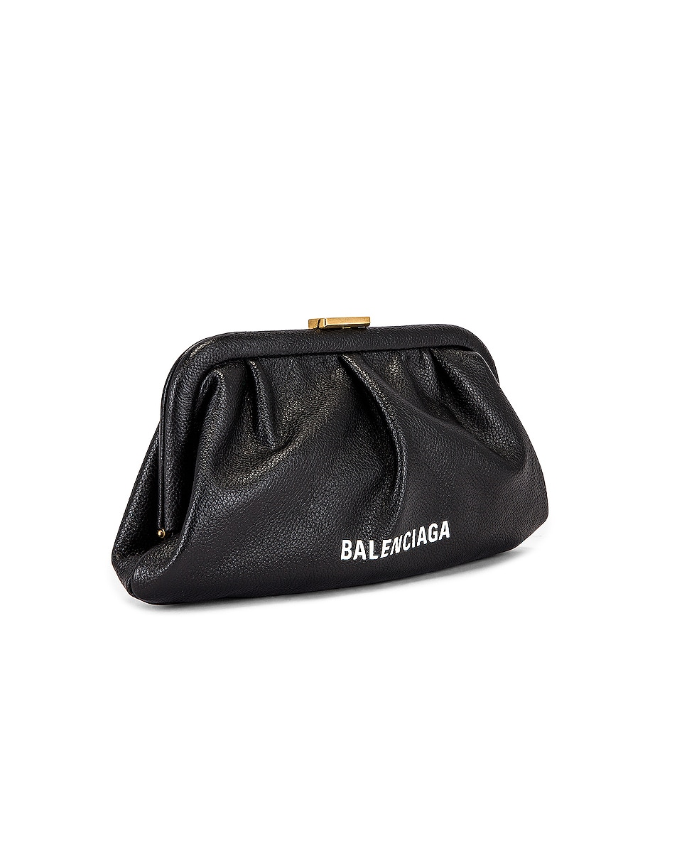 Image 4 of Balenciaga XS Cloud Clutch with Strap in Black