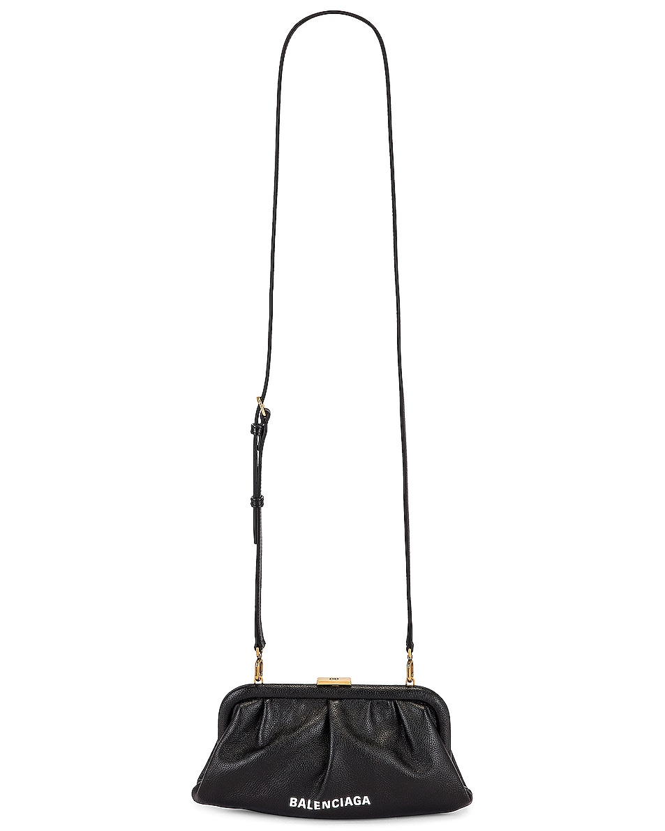 Image 6 of Balenciaga XS Cloud Clutch with Strap in Black
