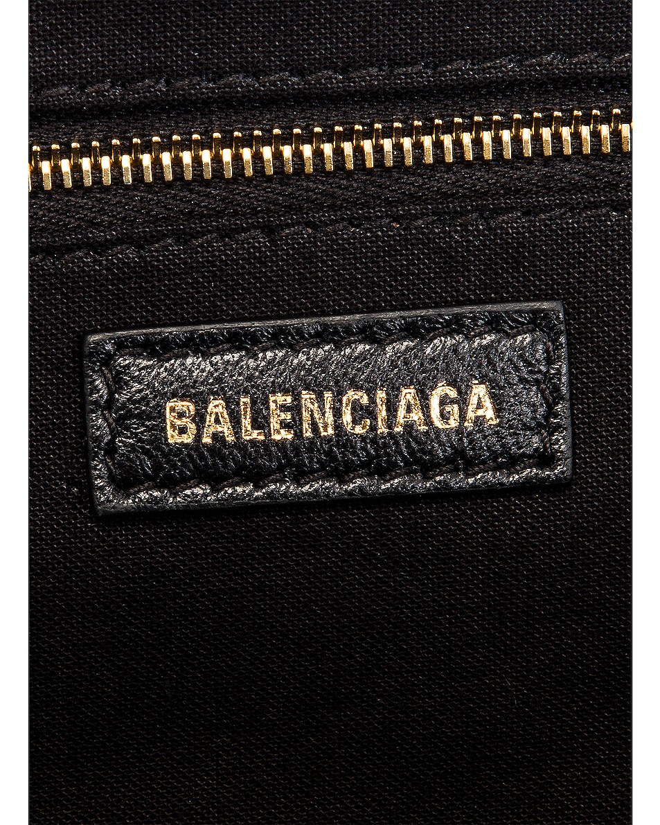 Image 7 of Balenciaga XS Cloud Clutch with Strap in Black
