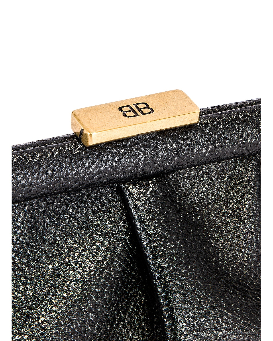 Image 8 of Balenciaga XS Cloud Clutch with Strap in Black